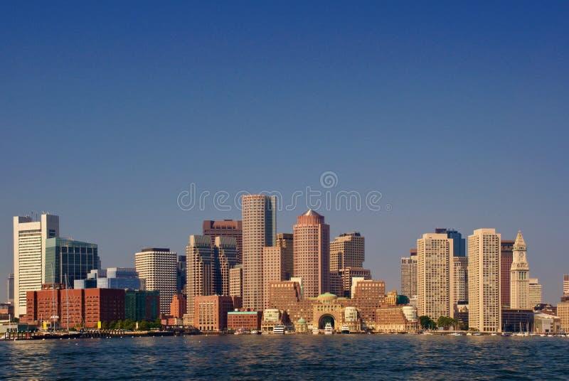 Parte dianteira do porto de Boston foto de stock
