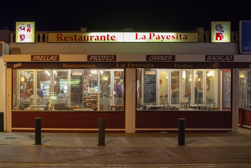 Parte dianteira do restaurante de Payesita fotografia de stock royalty free