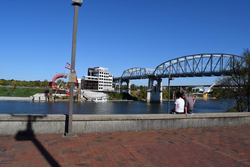 Parte dianteira do rio de Nashville foto de stock