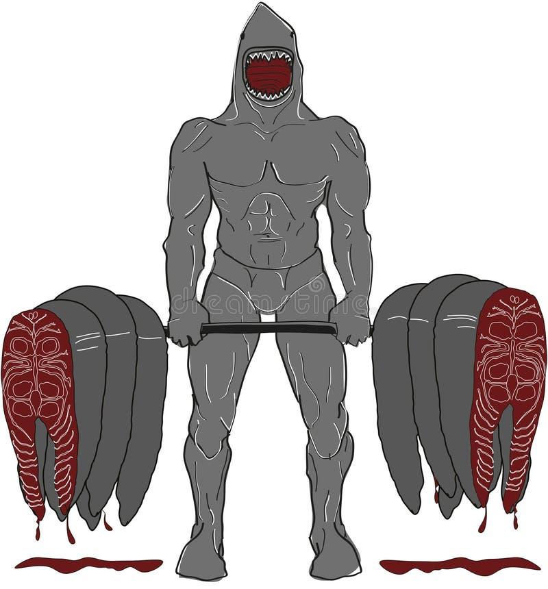 Parte dianteira do tubarão do músculo fotos de stock royalty free