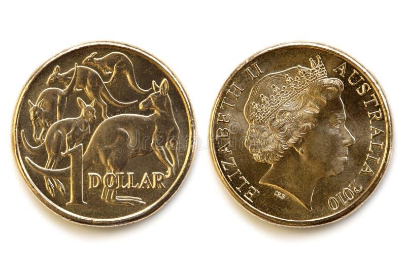 Parte dianteira e parte traseira do dólar australiano imagem de stock