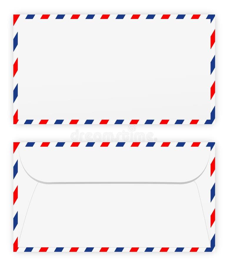 Parte dianteira e parte traseira do envelope ilustração royalty free