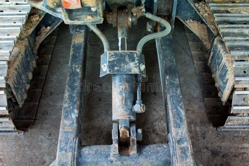 Parte dianteira hidráulica da máquina escavadora imagem de stock