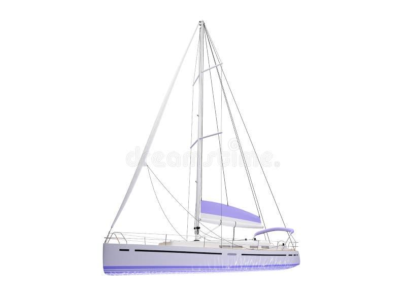 Parte dianteira isolada barco da embarcação ilustração stock