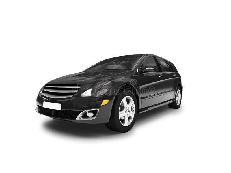 Parte dianteira preta isolada do carro ilustração royalty free
