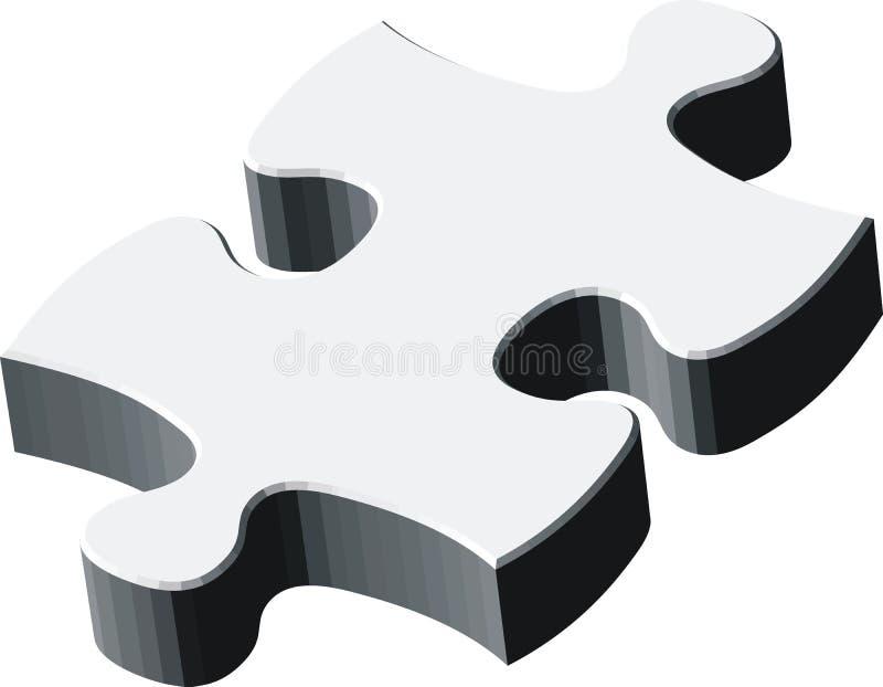 parte do blankpuzzle 3d ilustração stock