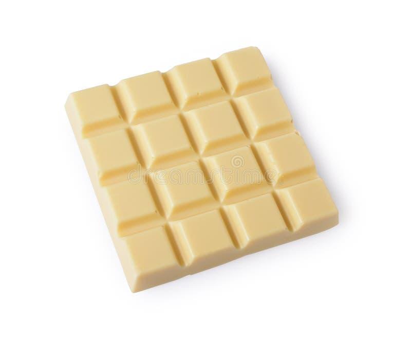 Parte do close-up da barra de chocolate branca fotografia de stock royalty free