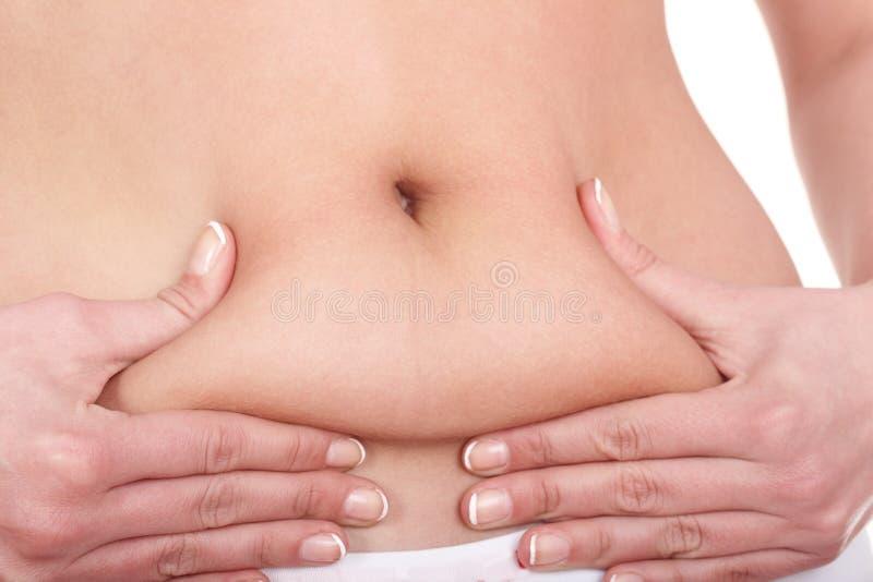 Parte do corpo fêmea gorda. fotos de stock royalty free