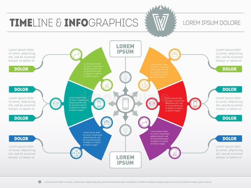 Parte do relatório com logotipo e dos ícones ajustados Vetor o infographic ilustração stock