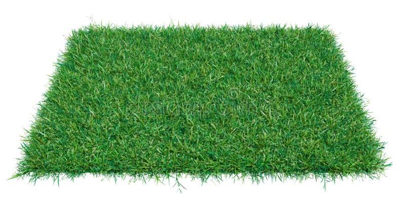 Parte do retângulo do modelo de grama verde imagens de stock