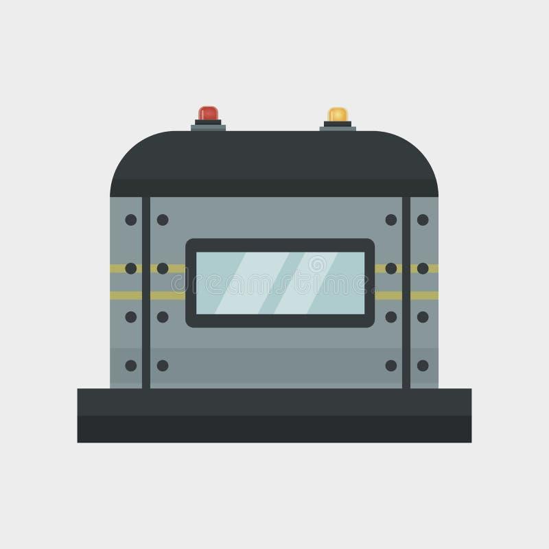 Parte do vetor da indústria do equipamento mecânico da engrenagem do detalhe do trabalho da fabricação da proteção da maquinaria ilustração stock