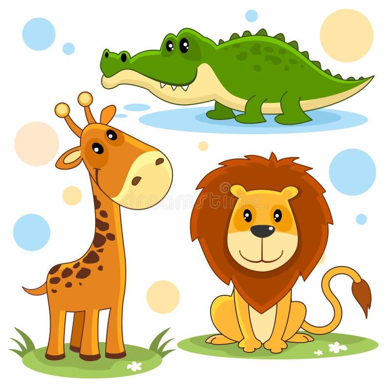 Parte 4 dos animais ilustração do vetor