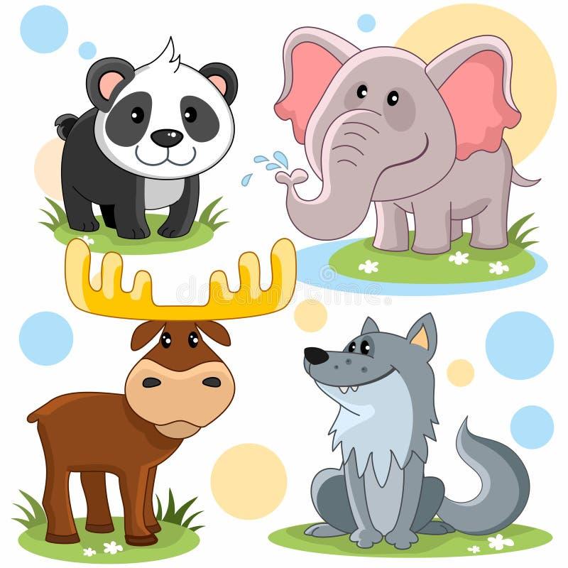 Parte 3 dos animais ilustração royalty free