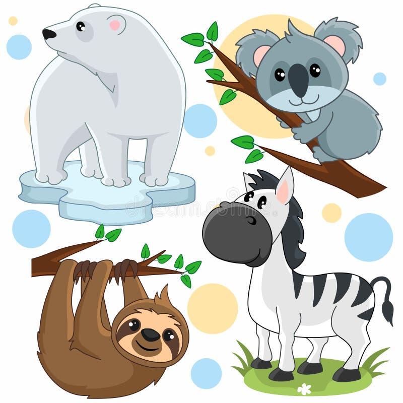 Parte 18 dos animais ilustração do vetor