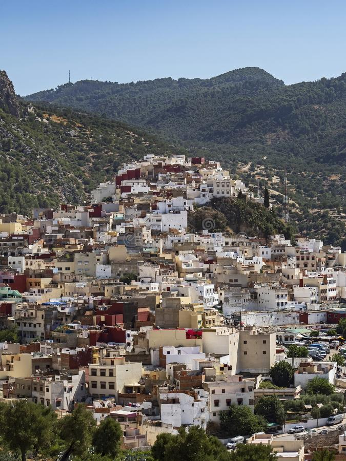 Parte externa cênico da cidade de Meknes, Marrocos fotografia de stock royalty free