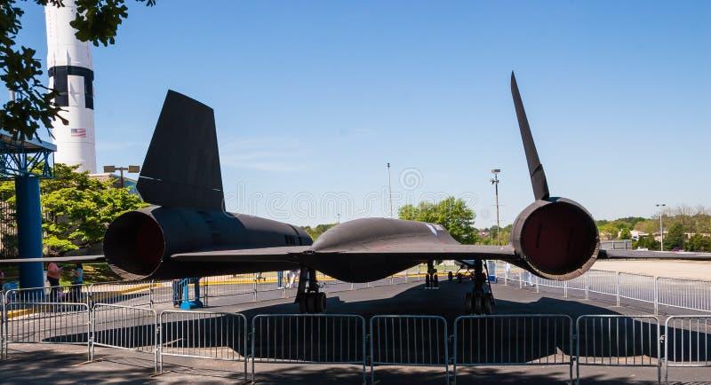 Parte final de um melro SR-71 foto de stock