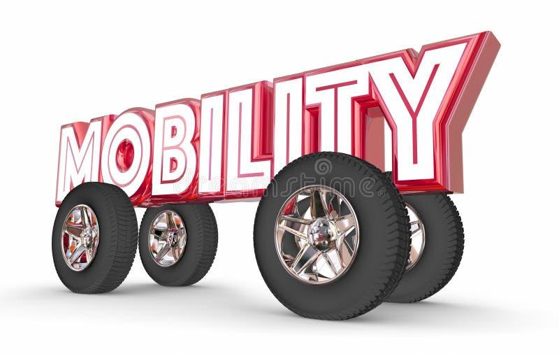 Parte futura del paseo de Vehilce del transporte del coche de la movilidad ilustración del vector