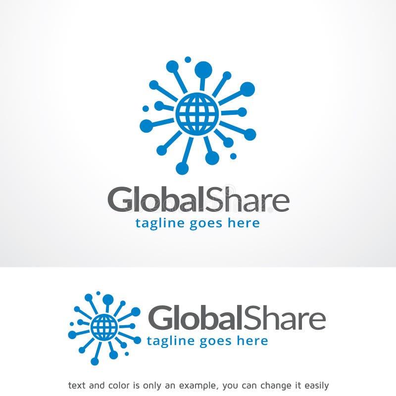 Parte globale Logo Template Design Vector, emblema, concetto di progetto, simbolo creativo, icona illustrazione vettoriale
