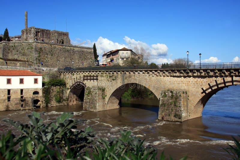Parte histórica da cidade de Barcelos foto de stock royalty free
