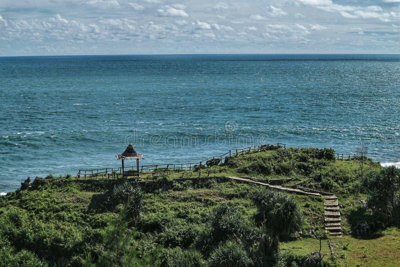 Parte inferior de la playa foto de archivo