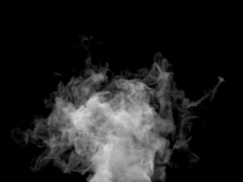 Parte inferior de levantamiento del efecto caótico del humo al top imágenes de archivo libres de regalías