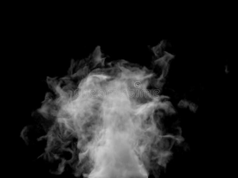 Parte inferior de levantamiento del efecto caótico del humo al top fotografía de archivo