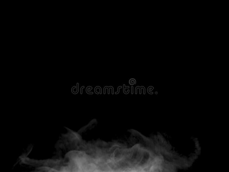 Parte inferior de levantamiento del efecto caótico del humo al top fotografía de archivo libre de regalías