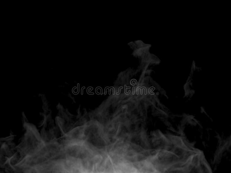 Parte inferior de levantamiento del efecto caótico del humo al top foto de archivo