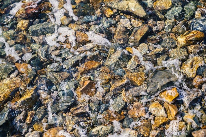 Parte inferior de mar con los guijarros imagen de archivo