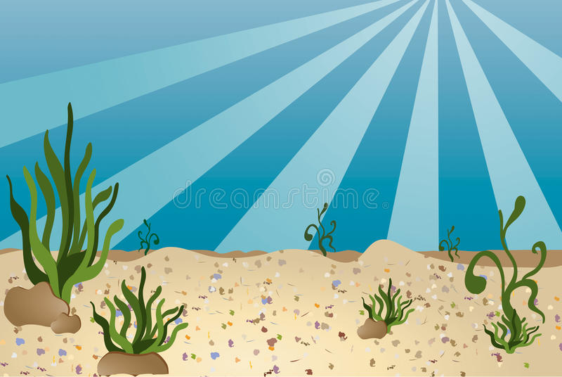 Parte inferior de mar - estilo de la historieta libre illustration