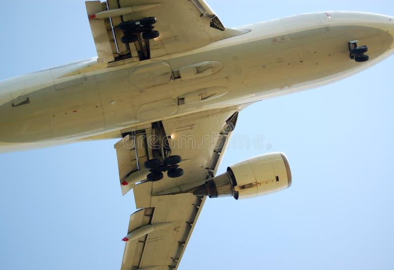 Parte inferior do avião imagens de stock