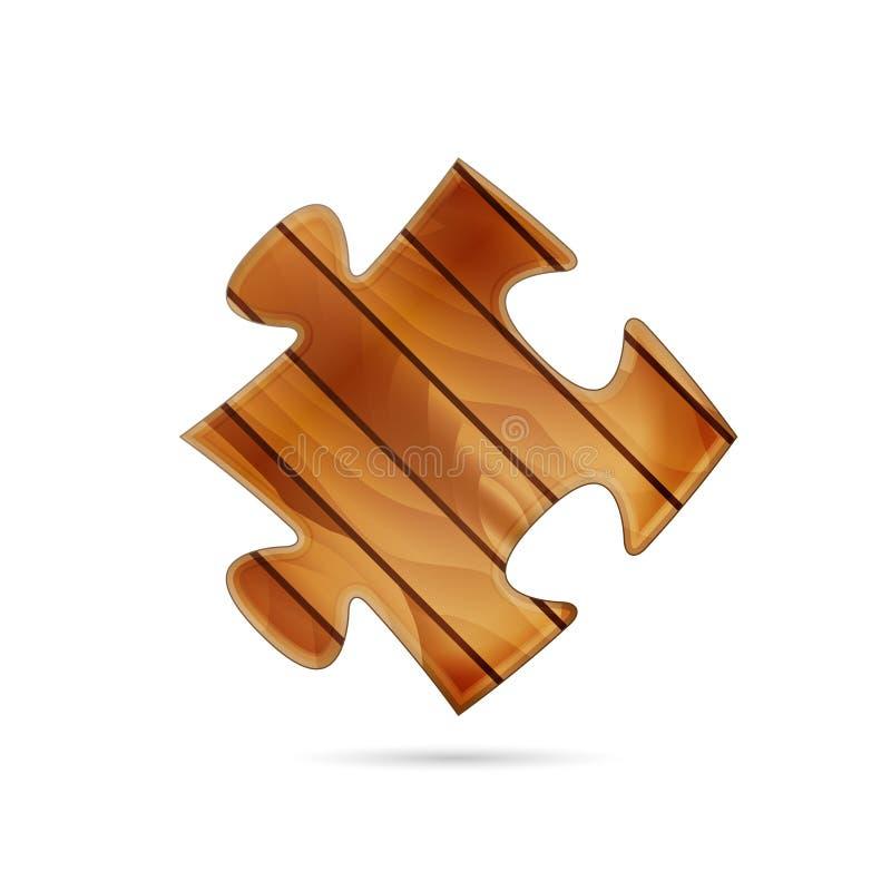 Parte de madeira do enigma ilustração royalty free