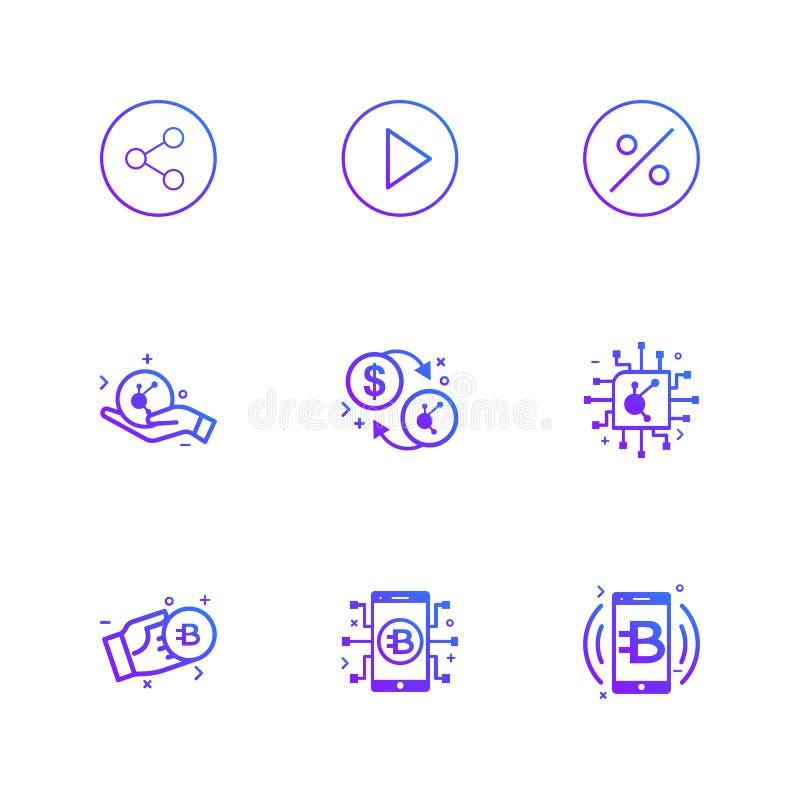 Parte, juego, porcentaje, caja fuerte, moneda crypto, ic, bitcoin libre illustration