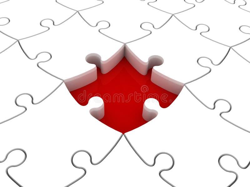 Parte mancante del puzzle illustrazione di stock