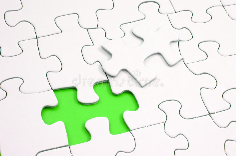 Parte mancante del puzzle fotografie stock libere da diritti