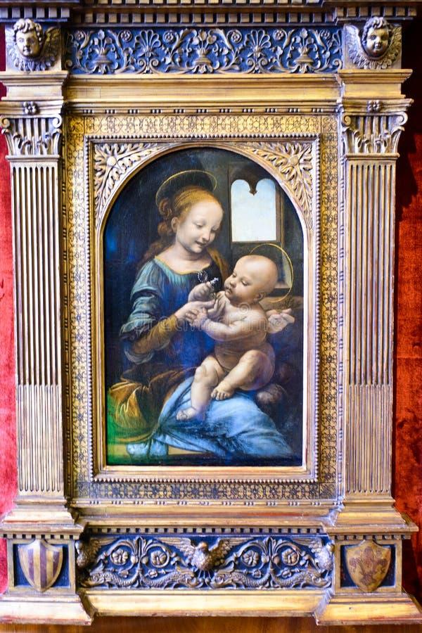 A parte mestra de da Vinci no palácio do inverno fotografia de stock royalty free