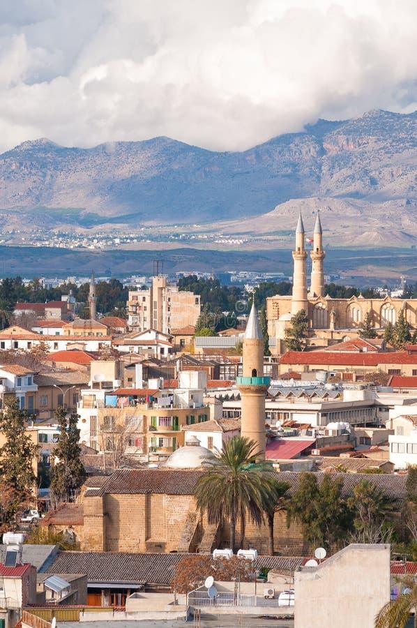 Parte norteña de la ciudad vieja, Nicosia, Chipre imagen de archivo