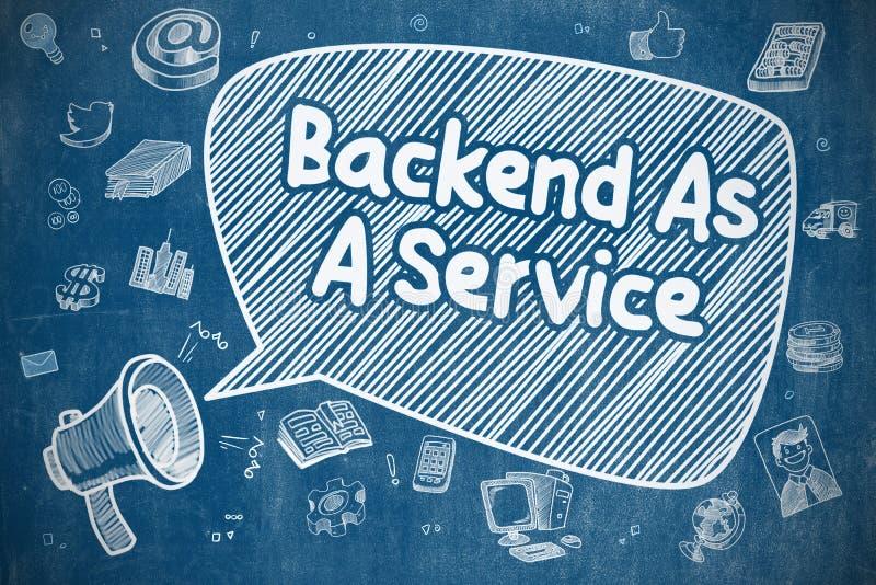 Parte posterior como um conceito da empresa de serviços ilustração royalty free