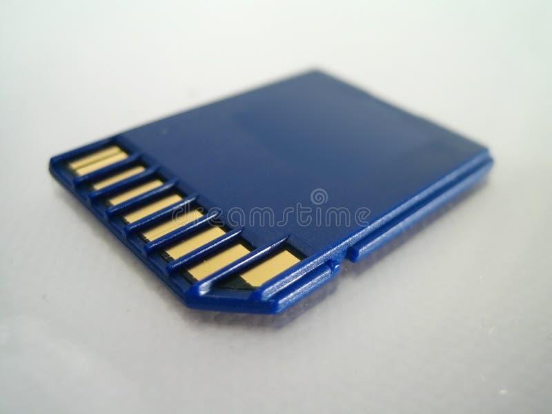 Parte posterior de tarjeta de memoria fotos de archivo libres de regalías