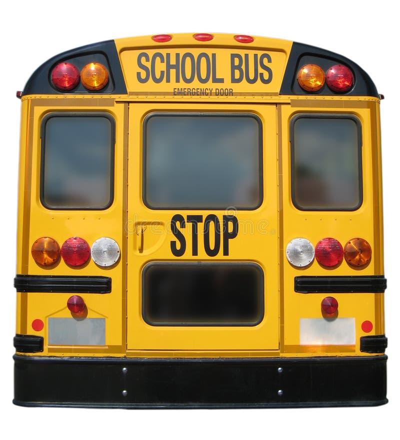 Parte posterior del autobús escolar imagen de archivo