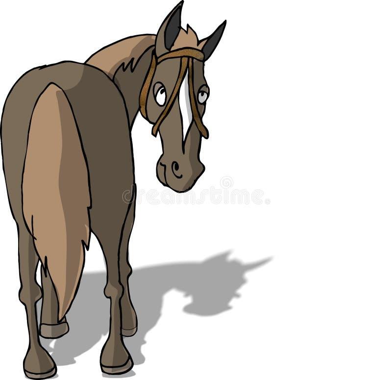 Parte posterior del caballo stock de ilustración