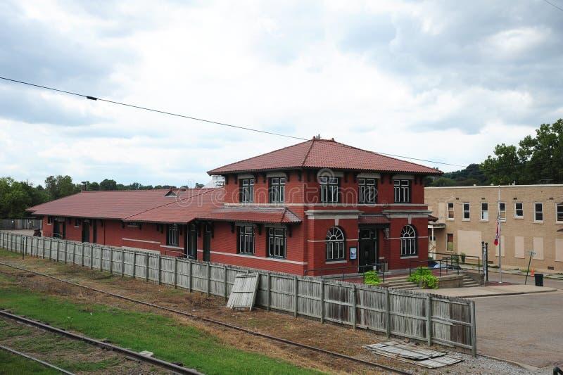 Parte posterior del depósito de tren de centro cultural del delta, Helena Arkansas imagen de archivo