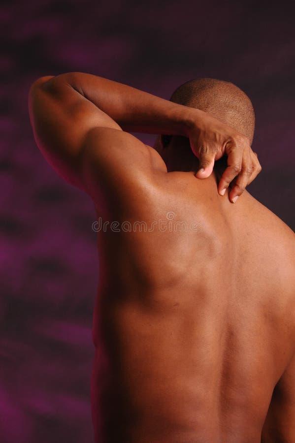 Parte posterior del hombre negro foto de archivo
