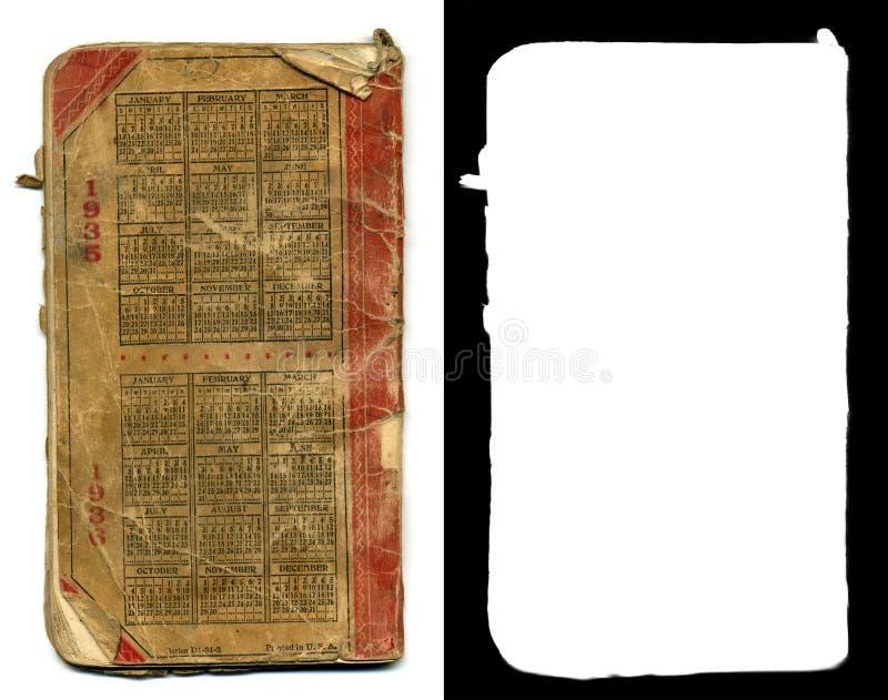 Parte posterior del libro mayor foto de archivo