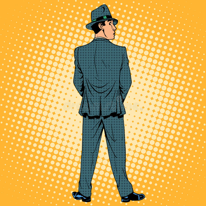 Parte posterior masculina del humor del retrete del matón libre illustration