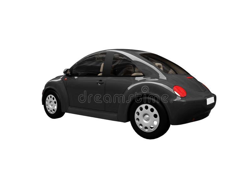 Parte posterior negra aislada del coche del fallo de funcionamiento stock de ilustración