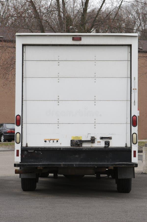 Parte posteriore commovente del camion fotografie stock