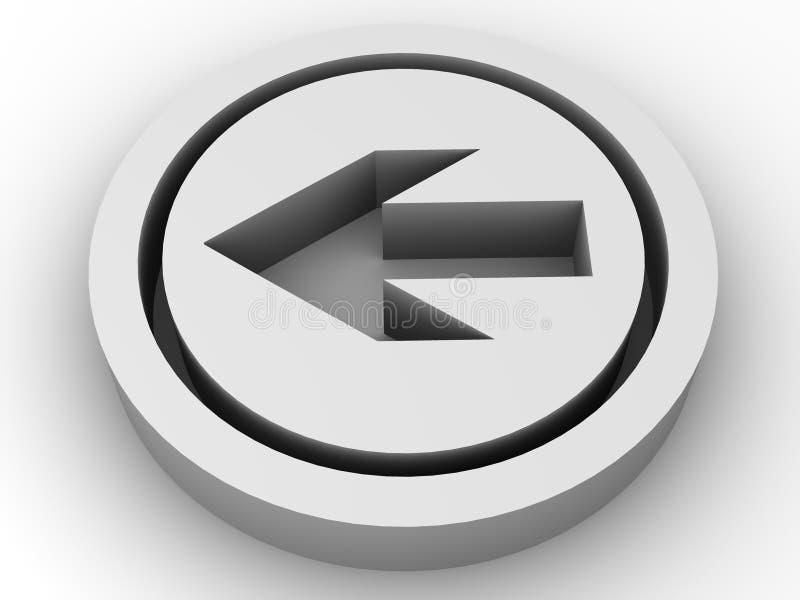 Parte posteriore dell'icona. 3d illustrazione vettoriale