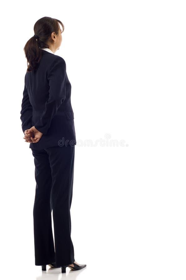 Parte posteriore della donna di affari immagini stock libere da diritti