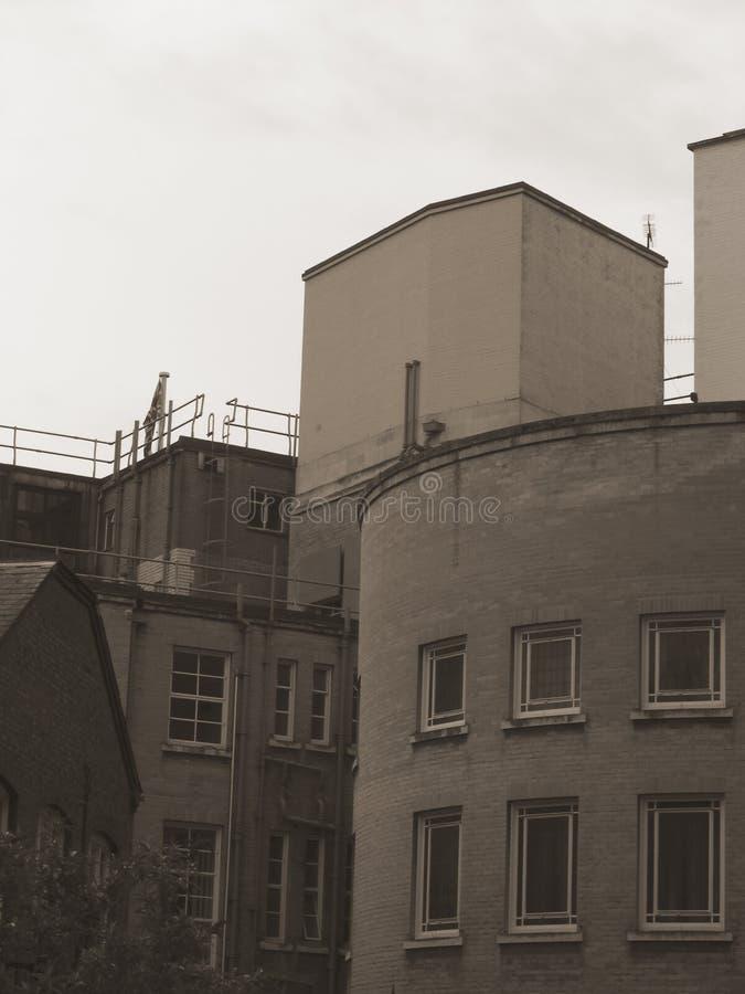 Parte posteriore di municipio di Luton fotografia stock